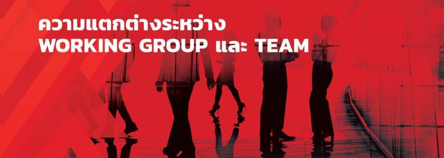 ความแตกต่างระหว่าง Working Group และ Team